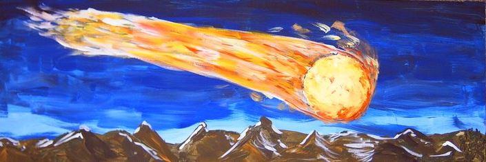 Der Komet - gemalt von Sylvia.